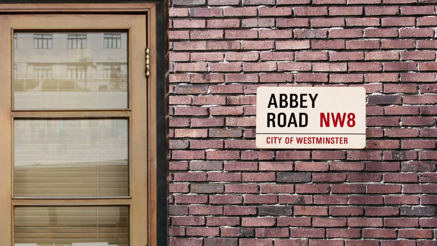 Abbey Road street sign. The world's most famous street of Abbey Road in London. #15929473