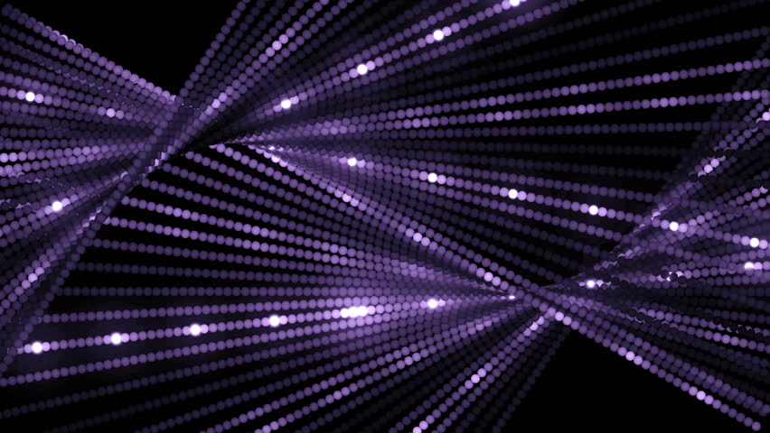 VJ Abstract motion violet background. Abstract motion violet background of spinning spheres with lines. Particles and stars.
