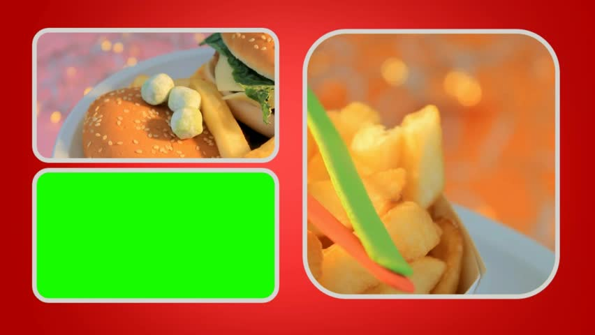 Fast Food in focus - HD stock footage clip