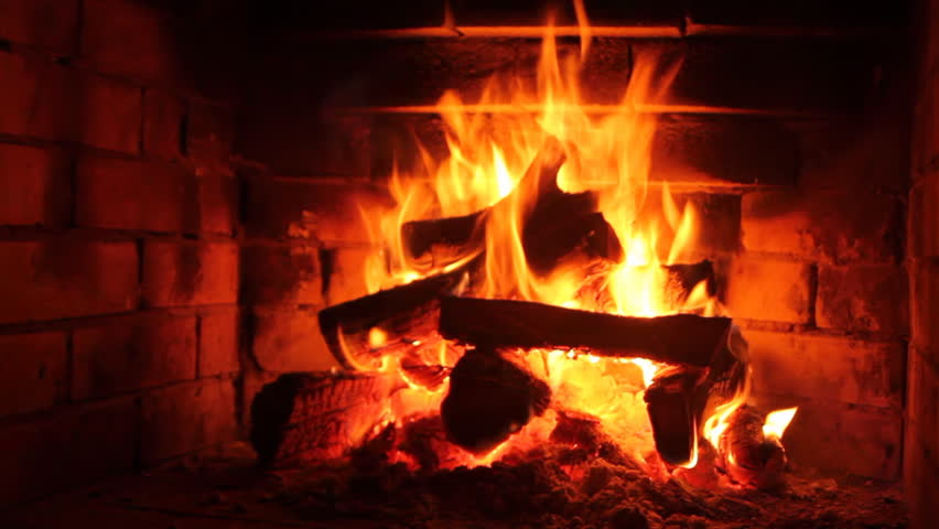The Dying Embers In The Fireplace Stock Footage Video