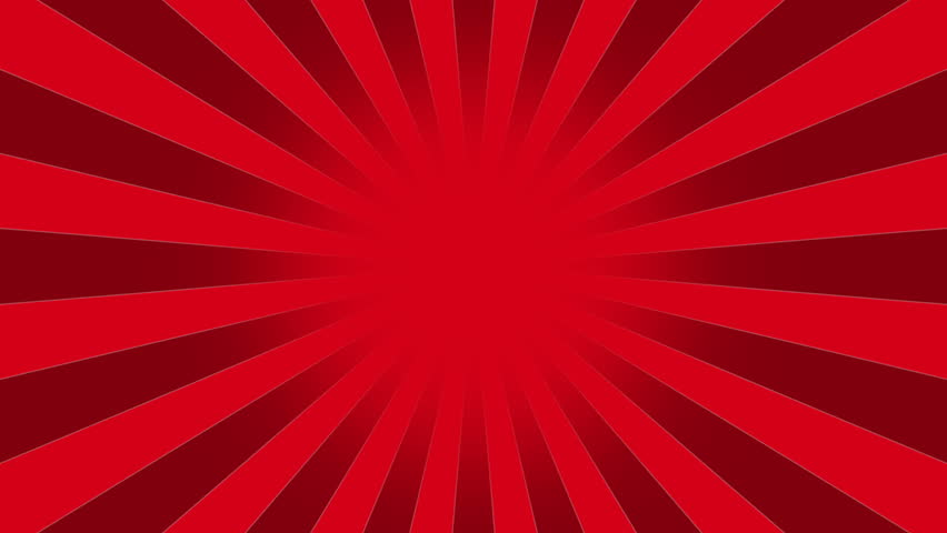 Red Burst Vector Background. Cartoon Background With Space