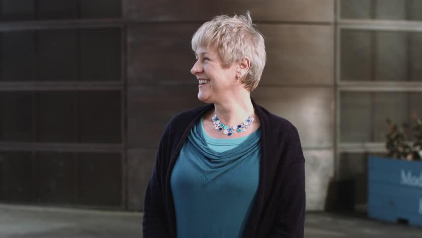 Portrait of Senior Female in city