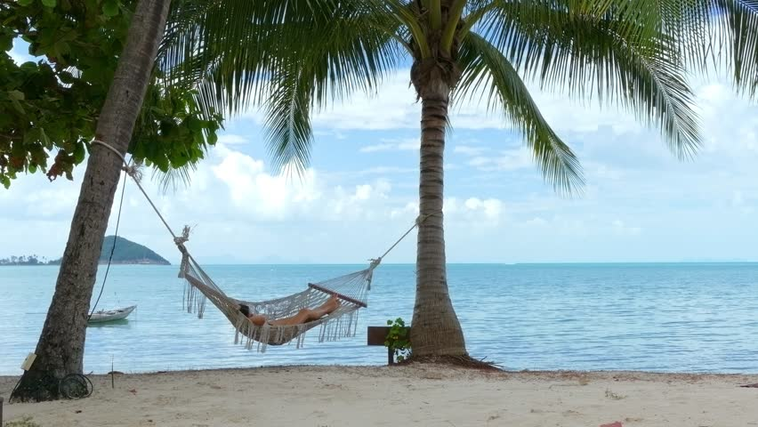 Woman in the hammock | Shutterstock HD Video #16163113
