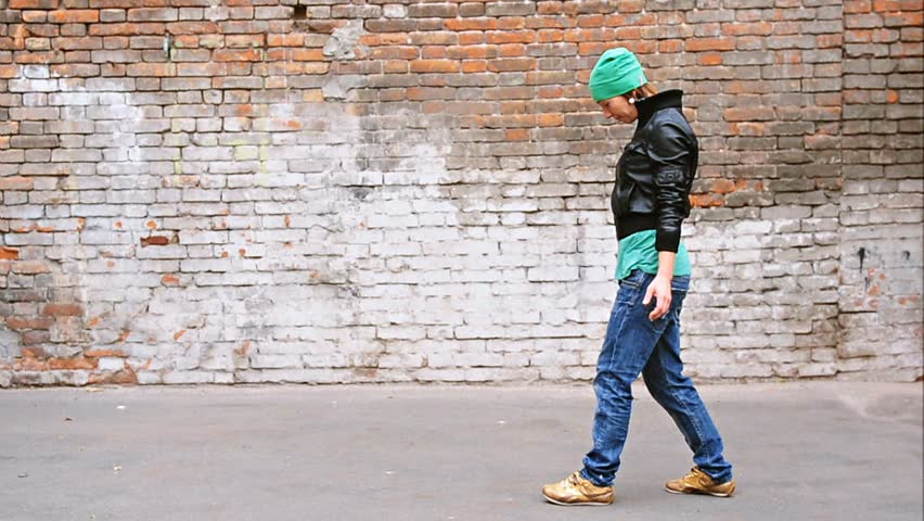 Young female dancer walking on hands | Shutterstock HD Video #1619572