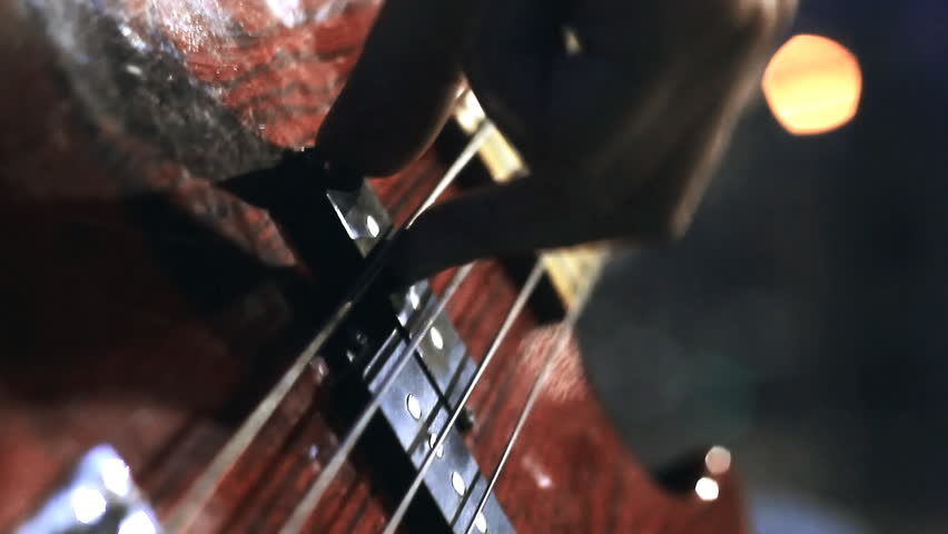 guitarist playing. close-up. arm - HD stock video clip