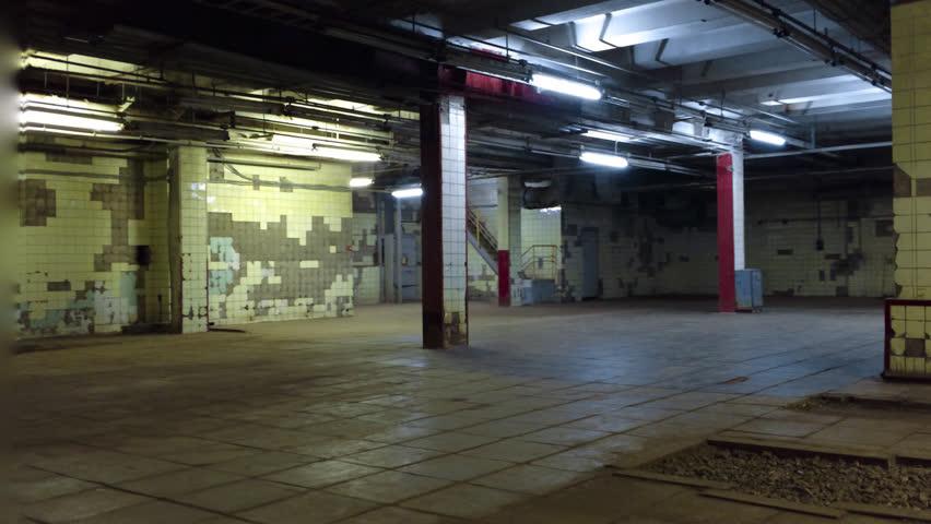 Empty Underground Garage In A Residential Building Stock