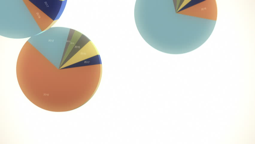 Falling, Bouncing Pie Charts in Slow Motion