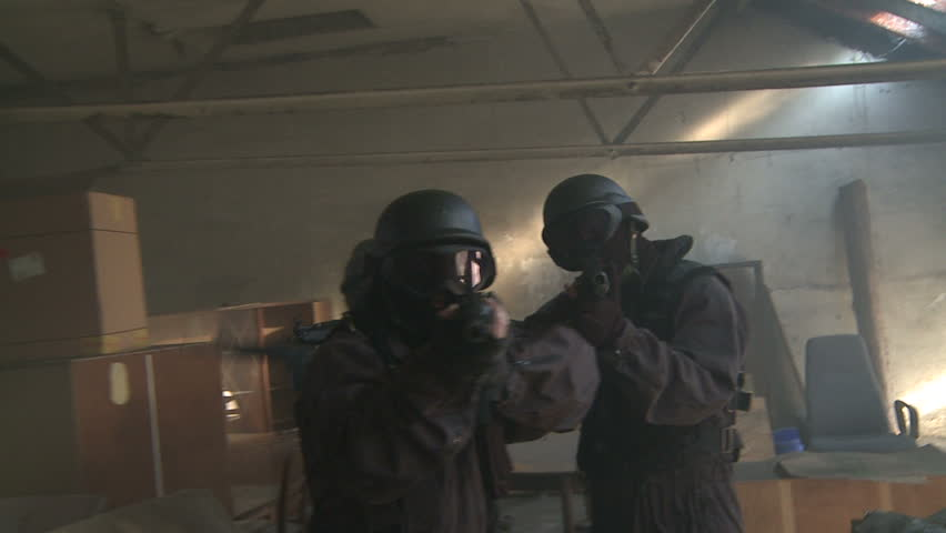 special forces running down attic