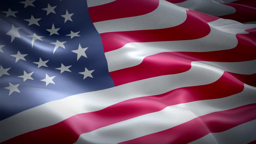 united states of American flag waving - HD stock video clip