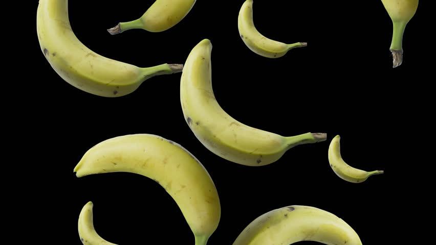 bananas spinning loop - 4K stock video clip