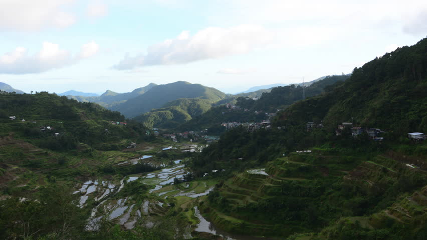 Banaue village, northern Luzon, Ifugao province, Philippines. The world heritage Rice terraces in Banaue.