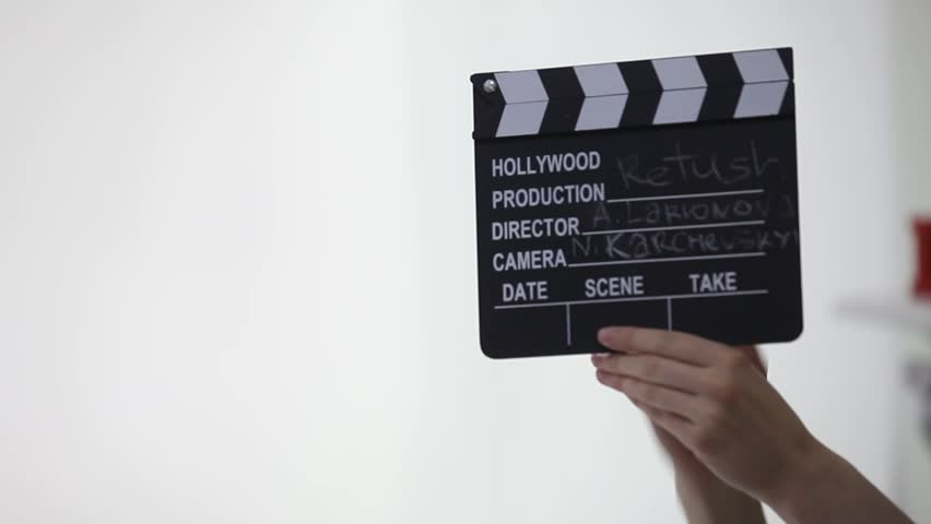 Clapboard in a photo studio, getting started