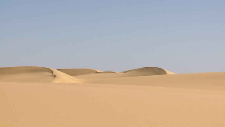 November, 2010 - North Africa: WS PAN Sand dunes in desert / North Africa - HD stock video clip