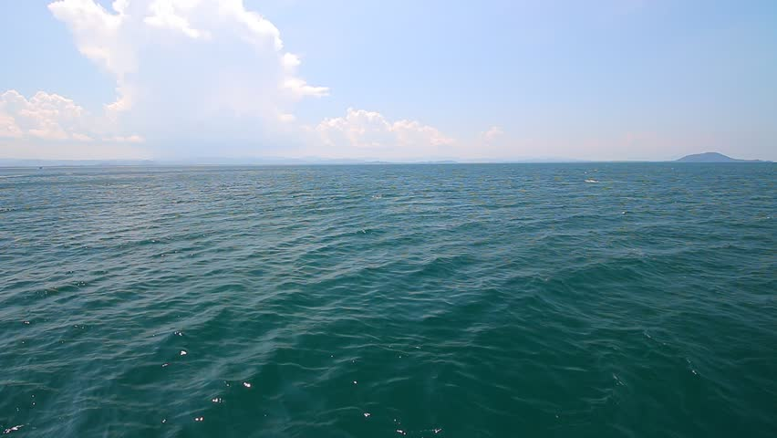 Beautiful sea on summer with sky. - HD stock video clip