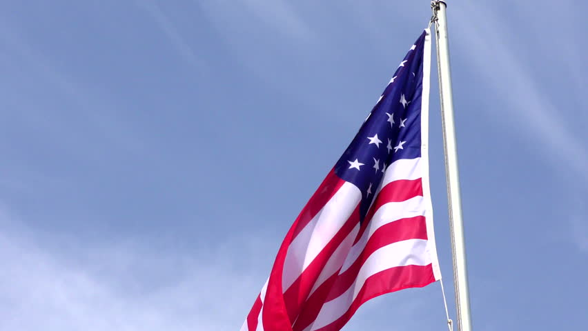 American Flag Waving in the wind - HD stock video clip
