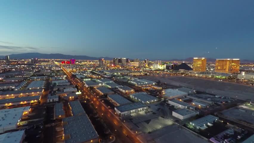 Las Vegas Strip Aerial Dusk 10 | Shutterstock HD Video #16589821