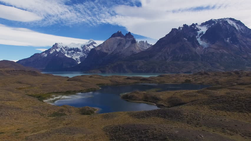 View from copter to the National Park Torres del Paine, Patagonia, Chile | Shutterstock HD Video #16650013
