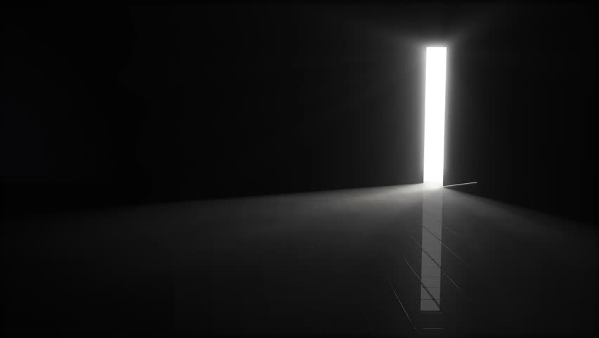 Dark room with light dark empty room stock footage video