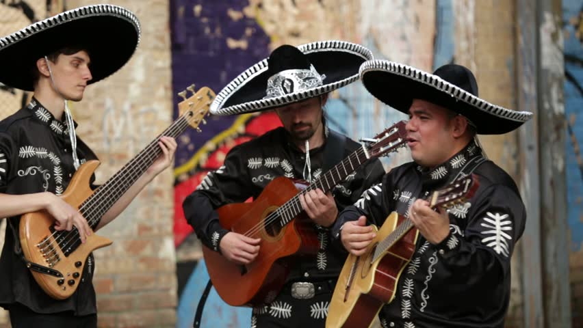 Mexican musicians on the streets. Latin American musicians. Spanish musicians. Video with sound.  | Shutterstock HD Video #16698568