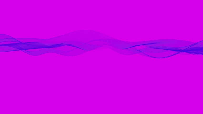 Graphic abstract blue lines waving on pink background