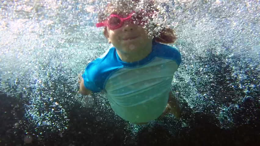 A Young Girl Swimming Underwater In A Pool Stock Footage Video 7125373 Shutterstock