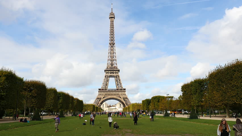 Time Lapse of the Eiffel Tower Daytime-  Paris France  - Circa November 2915 | Shutterstock HD Video #16753558