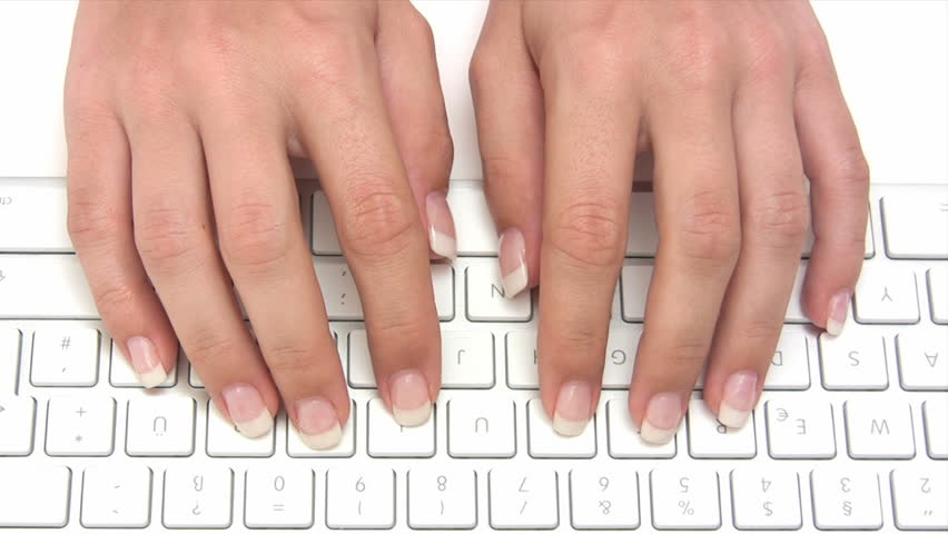 Typing on a Keyboard - HD stock video clip