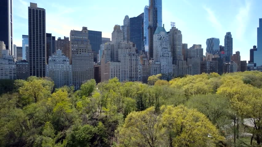 Aerial view of Central Park with Manhattan skyline in New York City   Shutterstock HD Video #16783186