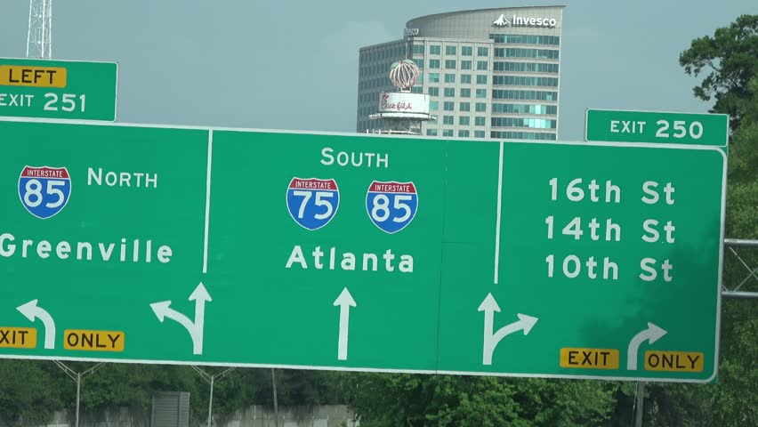 Atlanta City Direction Sign - USA Traffic Directional Sign ...