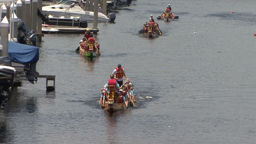 People in a boat racing competition | Shutterstock HD Video #1683769