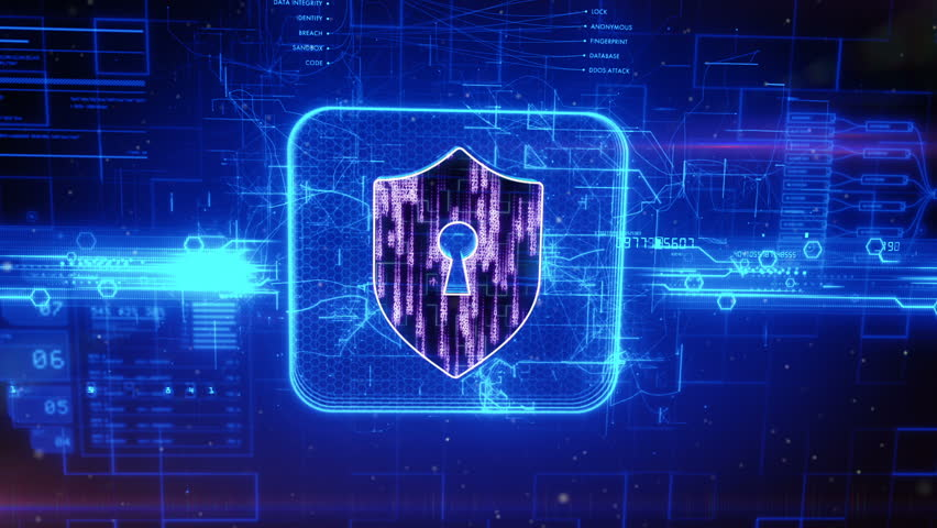 Digital padlock cyber security concept stock footage video 6622562 shutterstock - Security guard hd images ...