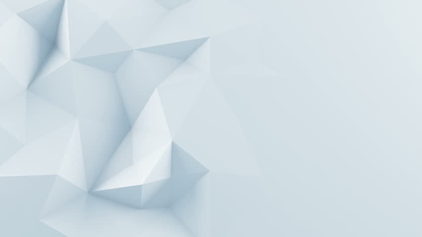 White polygonal shape. Abstract 3D render background. Computer generated seamless loop animation 4k UHD (3840x2160)  | Shutterstock HD Video #16954015