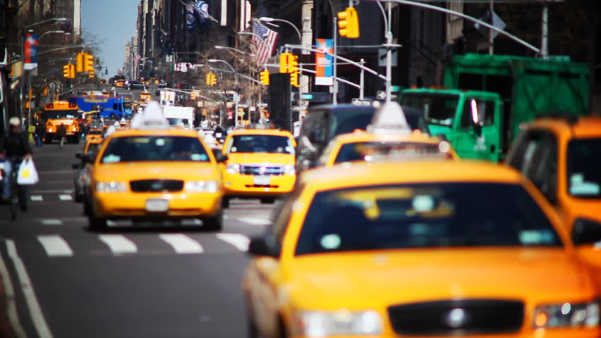 NYC slow motion taxis