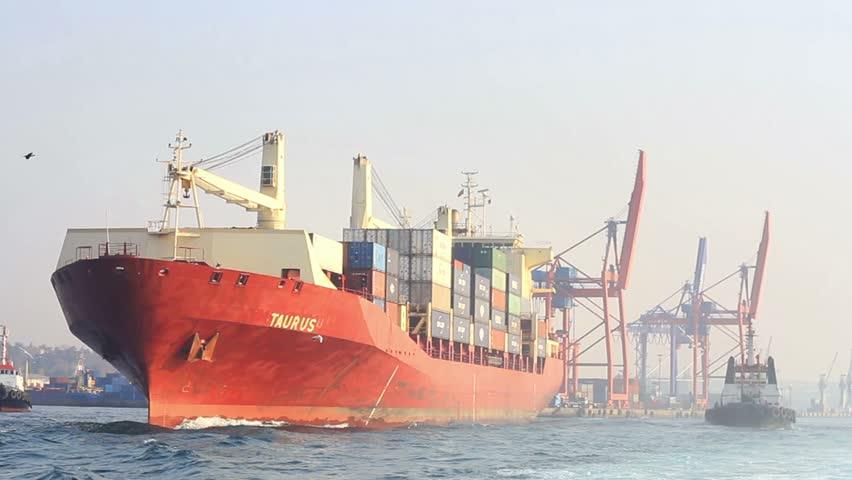 ISTANBUL - DECEMBER 01: Haydarpasa Port on December 01, 2011 in Istanbul,