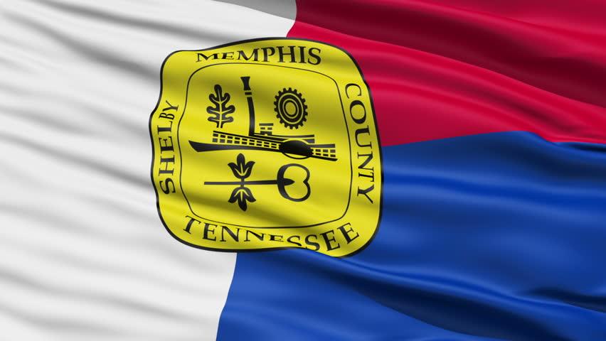 Memphis Waving American State Capital City Flag Animation