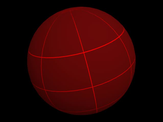 Red Globe with Grid - SD stock video clip