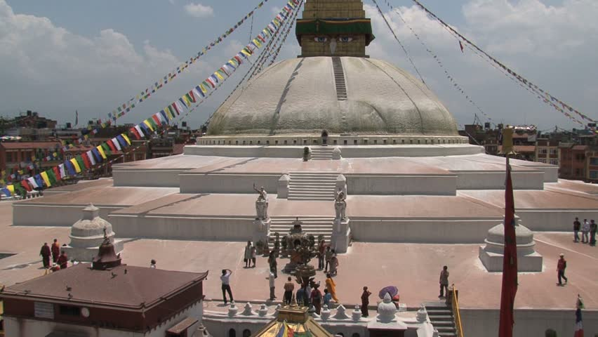 View of Boudha Stupa - HD stock video clip