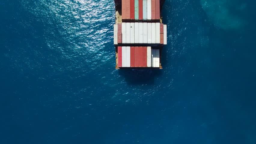Large container ship at sea - Aerial footage   Shutterstock HD Video #17147902