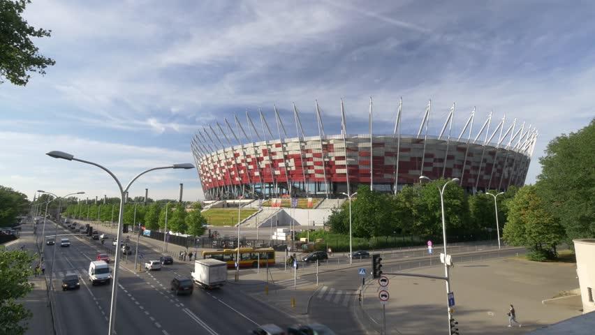 Warsaw National Stadium 4k footage.  | Shutterstock HD Video #17229091