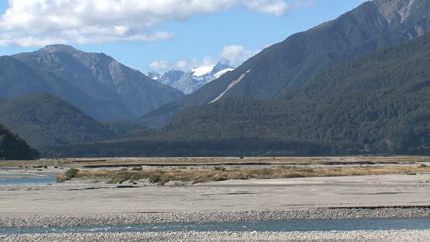 mountains, southern island, New Zealand - HD stock video clip