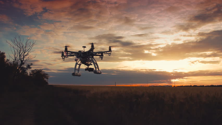 Custom drone hexacopter flies in the sky | Shutterstock HD Video #17258206
