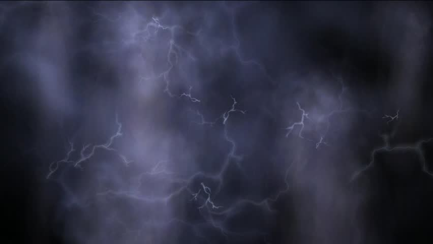 hd loop with lightning clouds and purple sky stock