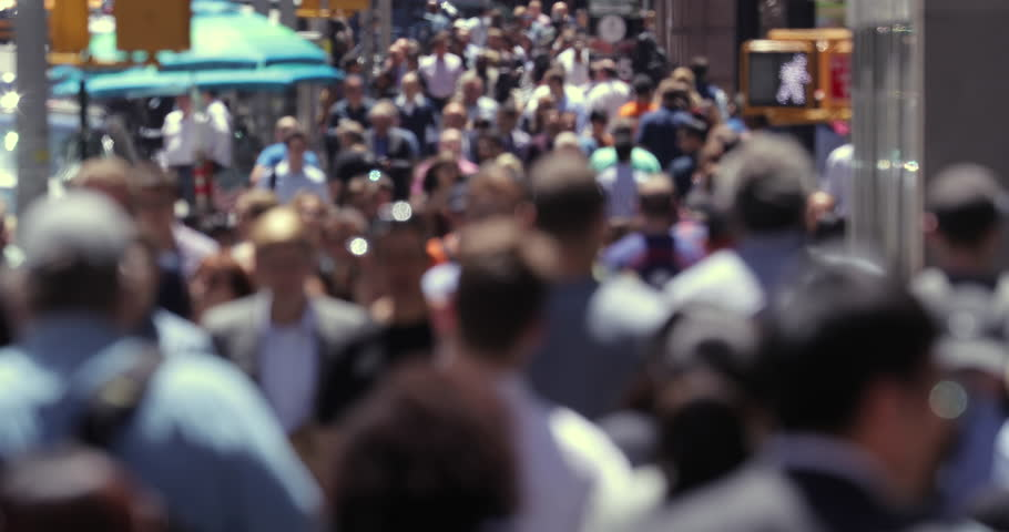 Anonymous crowd of people walking street in New York City | Shutterstock HD Video #17277403