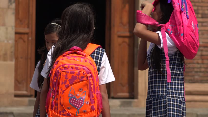 School Children With Backpacks
