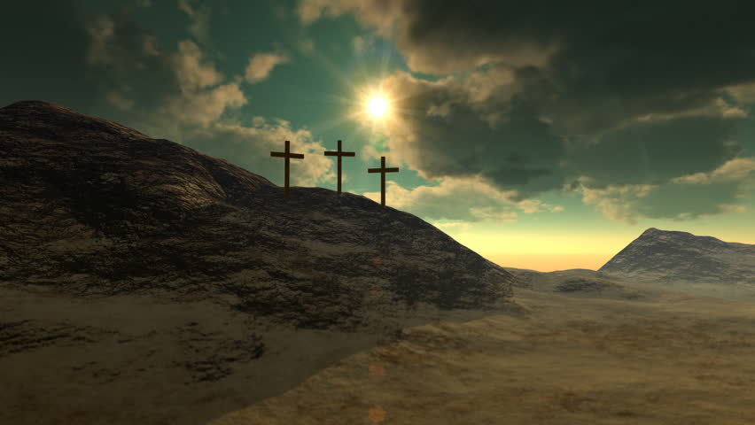 Crosses on Calvary Hill - HD stock video clip