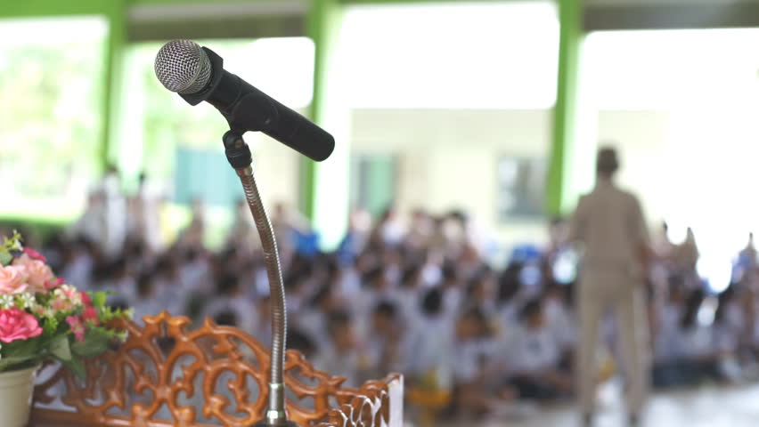 Wireless microphone to use in Activity in Schools | Shutterstock HD Video #17419936