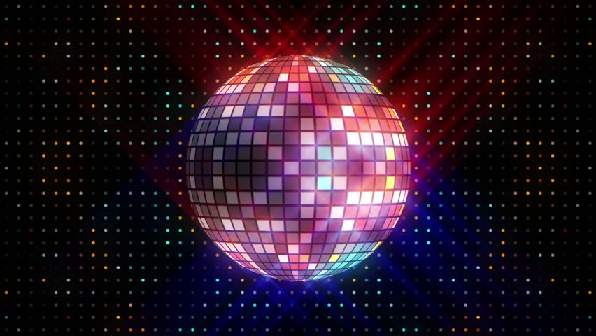 4k Disco Hypnotic Light Centerd Vj Loop Disco Effect: 3D Disco Mirror Ball Reflecting Colorful Lights And Lasers