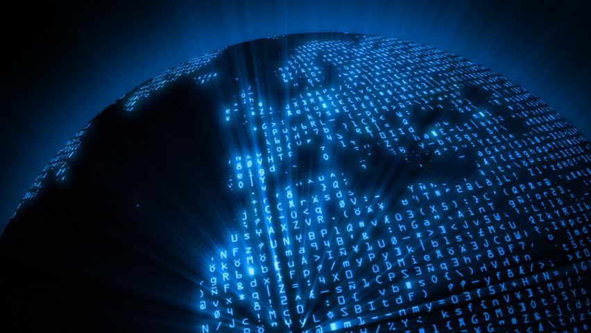 Data Code Network - Global Digital Matrix - HD stock video clip