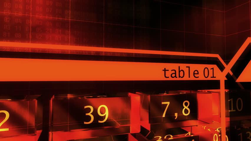 3D futuristic software spreadsheet layout
