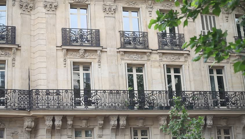 Typical building exterior in Paris, establishing shot | Shutterstock HD Video #17527693